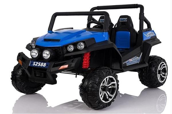UTV electric pentru copii Golf-Kart 4x45W 2x12V PREMIUM #Albastru 0
