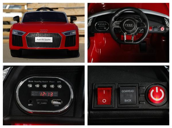 Masinuta electrica Audi R8 Spyder 2x35W 12V PREMIUM #Rosu 7