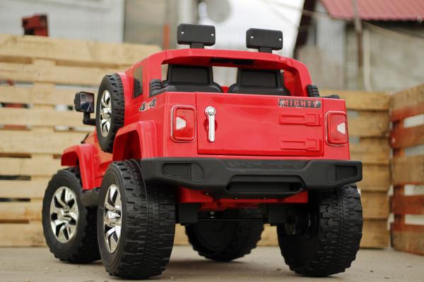 Masinuta electrica JeeP Outdoor 90W 12V PREMIUM #Rosu 4