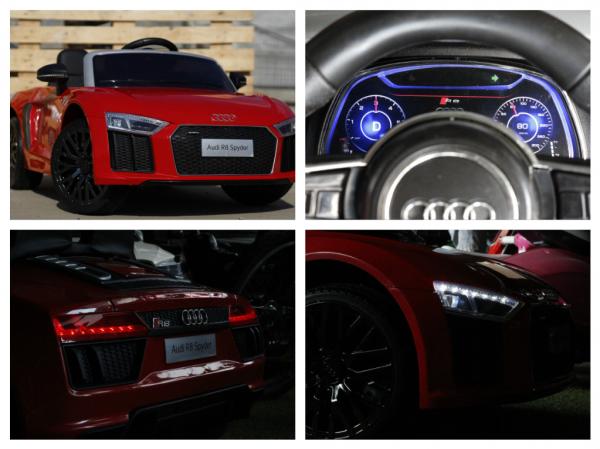 Masinuta electrica Audi R8 Spyder 2x35W 12V PREMIUM #Rosu 8