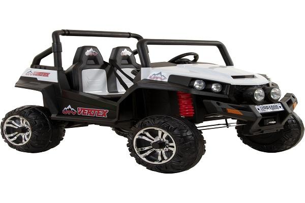 UTV electric pentru copii Golf-Kart 4x45W 2x12V PREMIUM #ALB 0