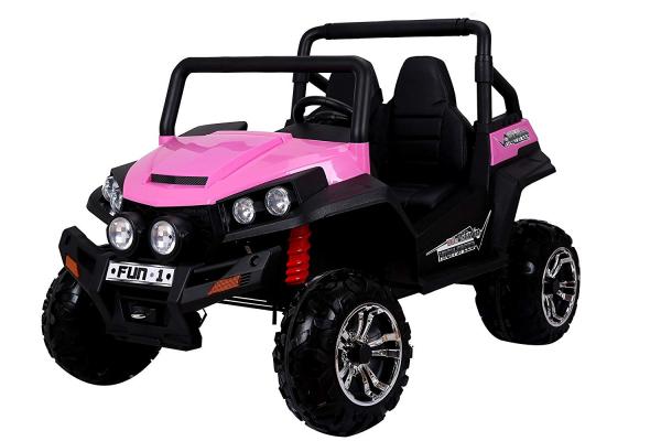 UTV electric pentru copii Golf-Kart 4x45W 2x12V PREMIUM #Roz 0