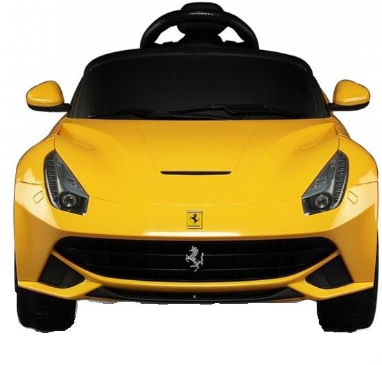 Masinuta electrica Ferrari F12 galben, 25W, pentru copii 3