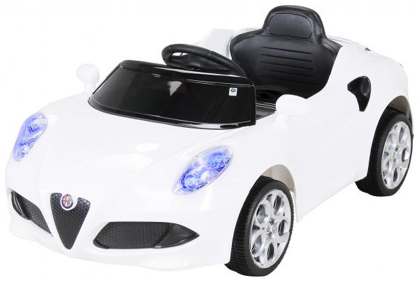 Masinuta electrica Alfa Romeo 4C 2x 15W STANDARD #Alb 0