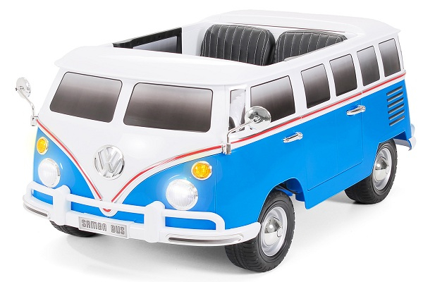 Kinderauto VW Samba Bus 2x45W, PREMIUM #Albastru 0