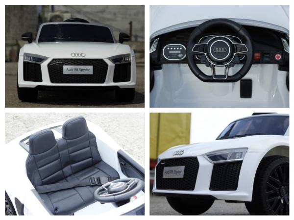 Masinuta electrica Audi R8 Spyder 2x35W 12V PREMIUM #ALB 6