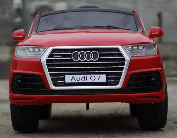 Masinuta electrica Audi Q7 2x35W 12V, Scaun tapitat #ROSU 1