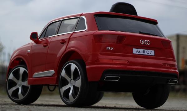Masinuta electrica Audi Q7 2x35W 12V, Scaun tapitat #ROSU 2