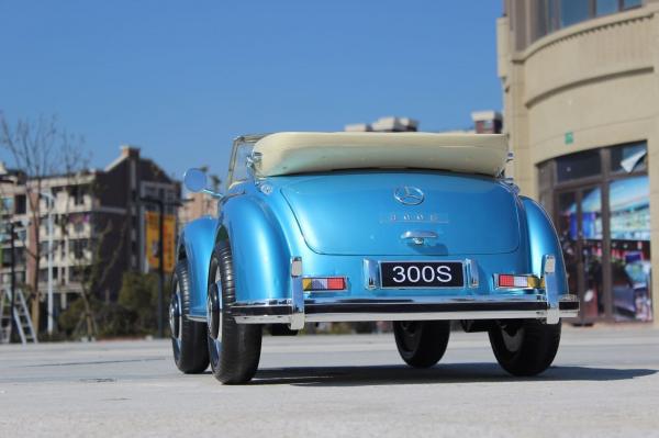 Kinderauto Mercedes 300S Oldtimer Cu ROTI MOI #Albastru 1
