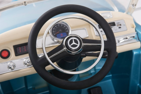 Kinderauto Mercedes 300S Oldtimer Cu ROTI MOI #Albastru 4