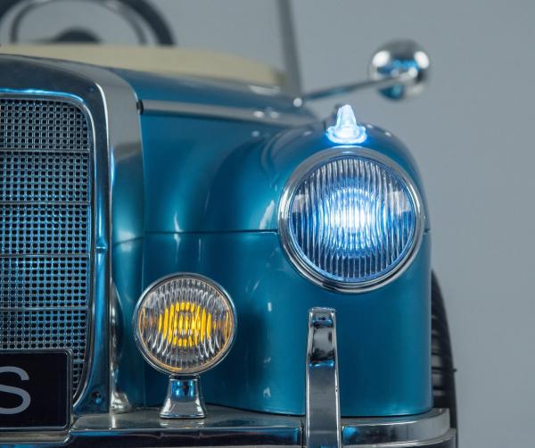 Kinderauto Mercedes 300S Oldtimer Cu ROTI MOI #Albastru 6
