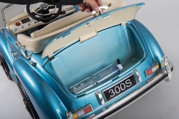 Kinderauto Mercedes 300S Oldtimer Cu ROTI MOI #Albastru 7