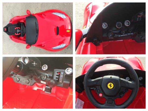 Masinuta electrica Ferrari F12 1x 25W STANDARD 12V #Rosu 8