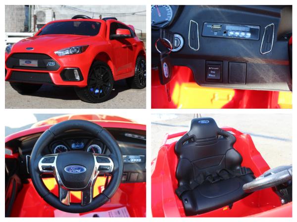 Masinuta electrica Ford Focus RS CU ROTI MOI #Rosu 7