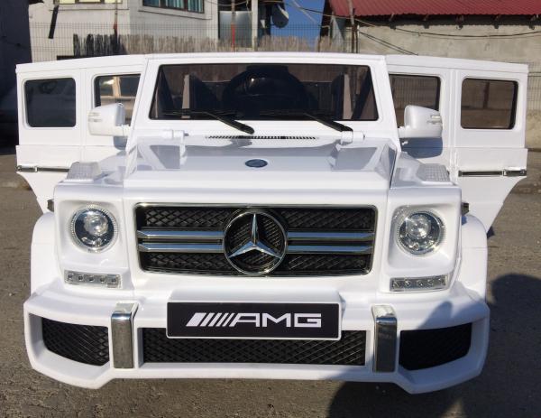 Masinuta electrica Mercedes G63 AMG, PREMIUM #ALB 1