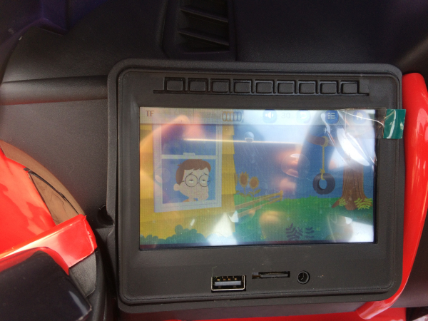 Kinderauto Land Rover Discovery DELUXE cu Touchscreen Mp4 #Rosu 4