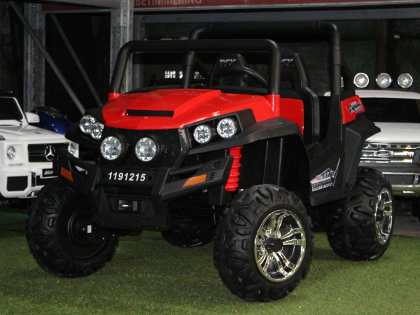 UTV electric pentru copii Golf-Kart 4x4 180W  PREMIUM #Rosu 2