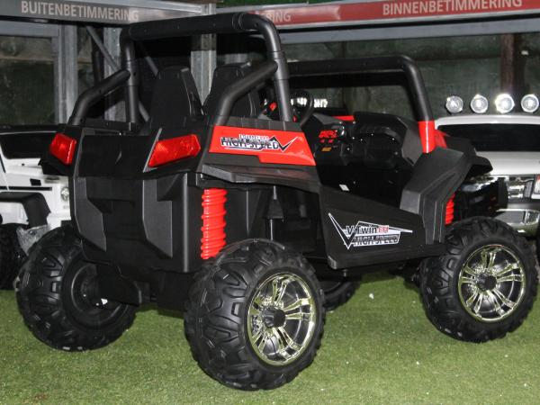 UTV electric pentru copii Golf-Kart 4x4 180W  PREMIUM #Rosu 4