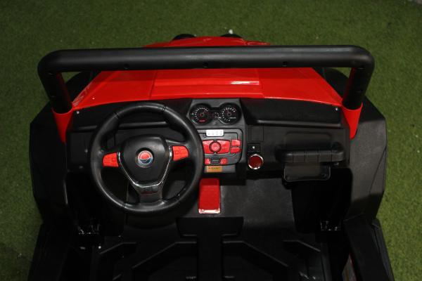 UTV electric pentru copii Golf-Kart 4x4 180W  PREMIUM #Rosu 5