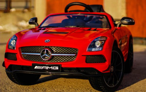 Masinuta electrica Mercedes SLS AMG PREMIUM #Rosu 1