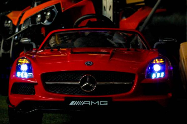 Masinuta electrica Mercedes SLS AMG PREMIUM #Rosu 4