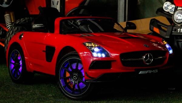 Masinuta electrica Mercedes SLS AMG PREMIUM #Rosu 5