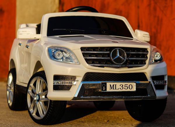 Masinuta electrica Mercedes ML350 2x25W STANDARD 12V # ALB 1