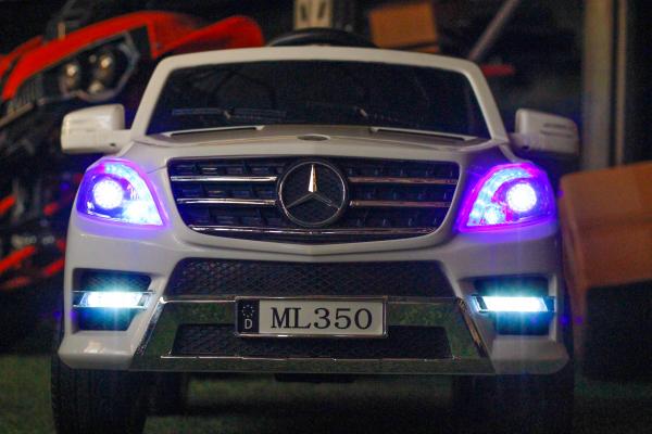 Masinuta electrica Mercedes ML350 2x25W STANDARD 12V # ALB 3