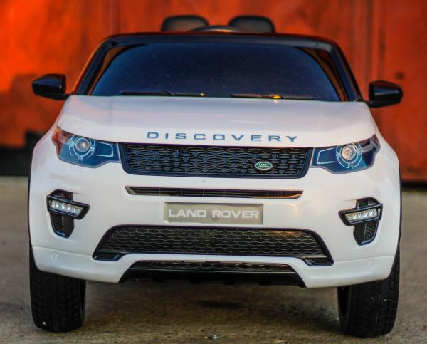 Masinuta electrica Land Rover Discovery DELUXE cu Touchscreen Mp4 #ALB 1