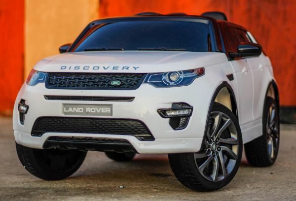 Masinuta electrica Land Rover Discovery DELUXE cu Touchscreen Mp4 #ALB 2