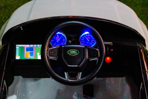 Masinuta electrica Land Rover Discovery DELUXE cu Touchscreen Mp4 #ALB 4