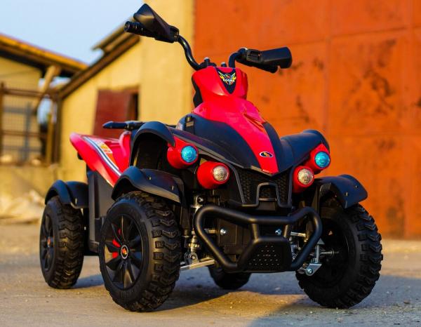 ATV Electrica pentru copii Dooma EVA - Quad 2x 45W 12V #Rosu 2