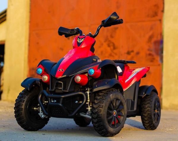 ATV Electrica pentru copii Dooma EVA - Quad 2x 45W 12V #Rosu 3
