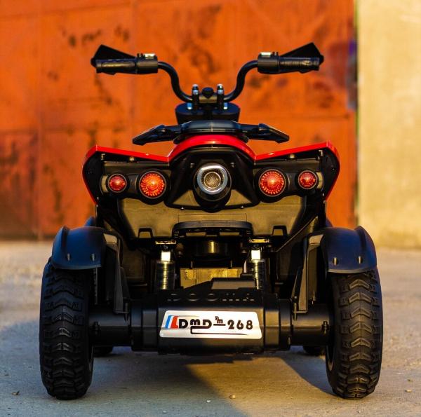 ATV EVA - Quad electric pentru copii 2x 45W 12V #Rosu 4