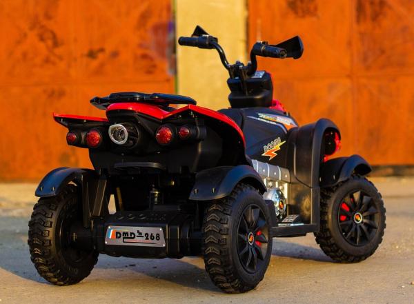 ATV EVA - Quad electric pentru copii 2x 45W 12V #Rosu 6