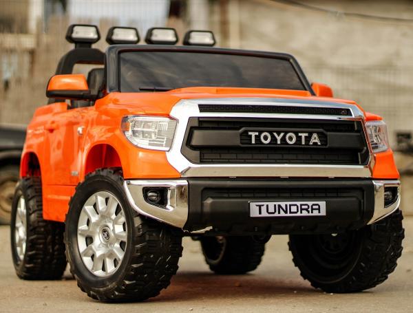Masinuta electrica Toyota Tundra 2x45W PREMIUM #Portocaliu 2