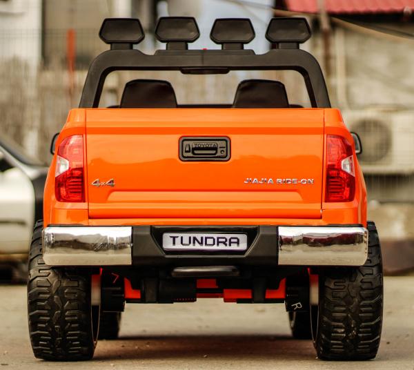 Masinuta electrica Toyota Tundra 2x45W PREMIUM #Portocaliu 3