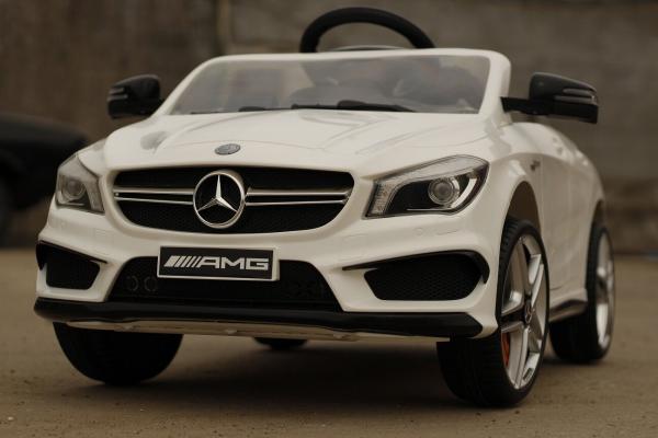 Masinuta electrica Mercedes CLA45 STANDARD 2x 25W 12V #ALB 2