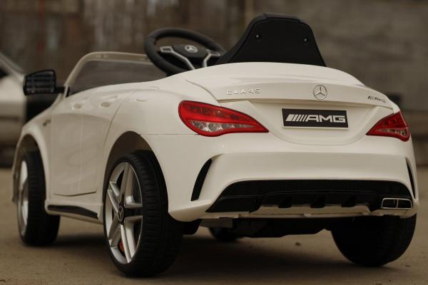 Masinuta electrica Mercedes CLA45 STANDARD 2x 25W 12V #ALB 4