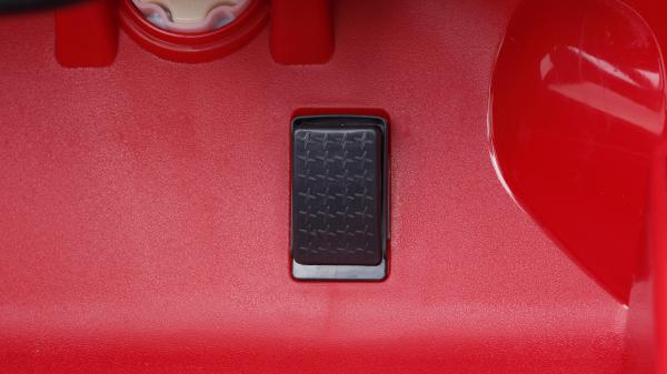 Masinuta electrica Audi Q7 2x35W 12V, Scaun tapitat #ROSU 6