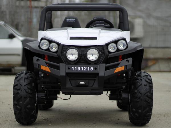 UTV electric pentru copii Golf-Kart 4x45W 2x12V PREMIUM #ALB 1