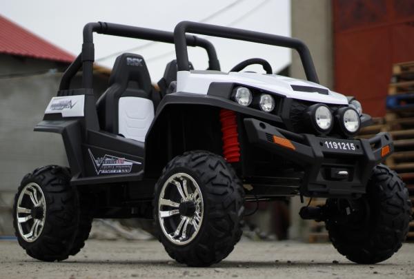 UTV electric pentru copii Golf-Kart 4x45W 2x12V PREMIUM #ALB 2