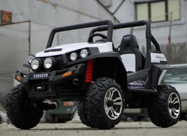 UTV electric pentru copii Golf-Kart 4x45W 2x12V PREMIUM #ALB 3