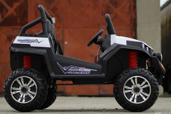 UTV electric pentru copii Golf-Kart 4x45W 2x12V PREMIUM #ALB 5