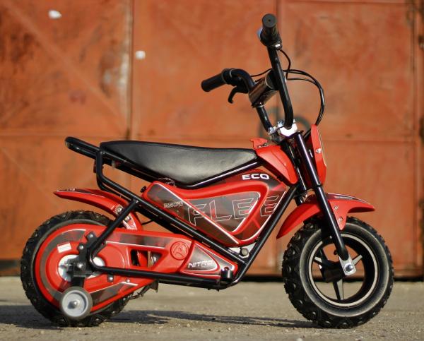 Mini Motocicleta electrica pentru copii NITRO ECO Flee 250W #Rosu 2