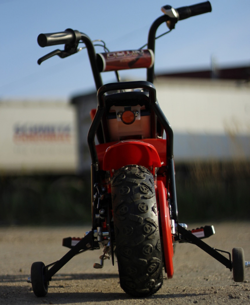 Mini Motocicleta electrica pentru copii NITRO ECO Flee 250W #Rosu 4
