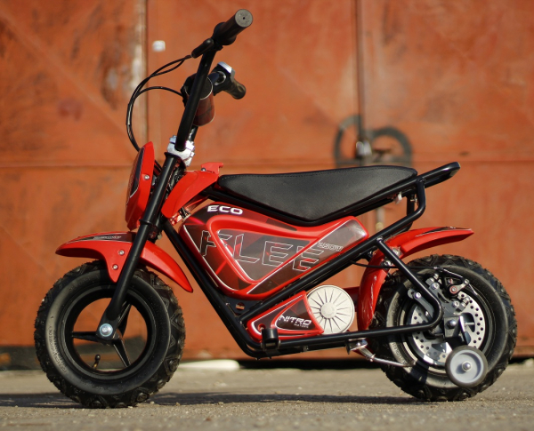 Mini Motocicleta electrica pentru copii NITRO ECO Flee 250W #Rosu 5