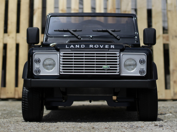 Masinuta electrica Land Rover Defender 2x35W 12V cu ROTI MOI #Negru 1