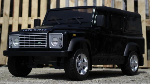 Masinuta electrica Land Rover Defender 2x35W 12V cu ROTI MOI #Negru 2