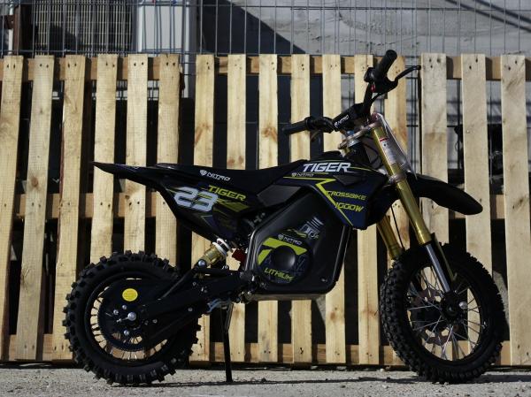 Motocicleta electrica Eco Tiger 1000W 36V 12/10 #Albastru 2